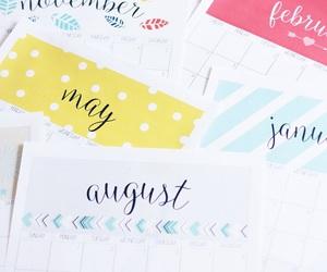 calendar, diy, and idea image