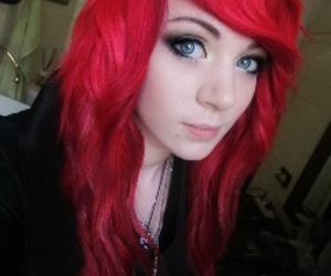 red hair, blue eyes, and amber mccrackin image