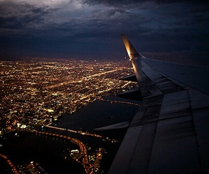 fly, travelling, and places image