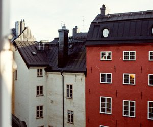 building, city, and red image