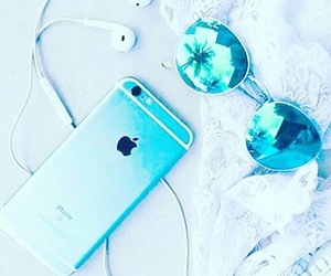 blue, sunglasses, and iphone image