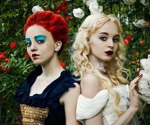 alice in wonderland, white queen, and alice image