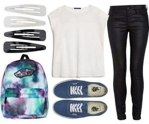 outfit, look, and t-shirt image