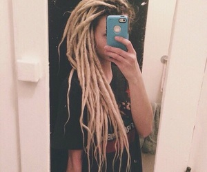 blonde, dreadlocks, and dreads image