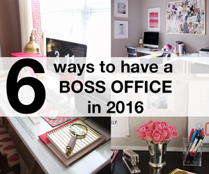 desk, girly, and office image