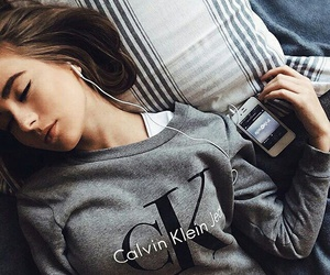 Calvin Klein, girl, and music image