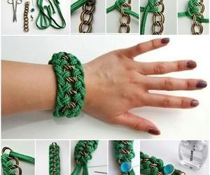 diy, bracelet, and green image