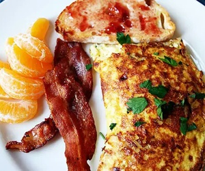 breakfast, bacon, and food image