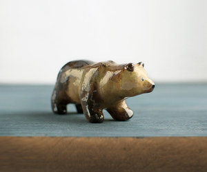 brown bear, etsy, and woodland image