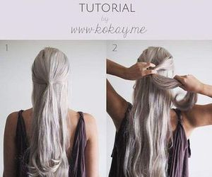 hair, hairstyle tutorials, and hairstyle image