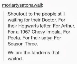 doctor who, harry potter, and merlin image