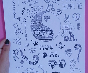 art, dibujo, and doodle image