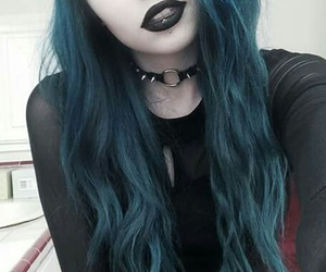 goth, hair, and black image