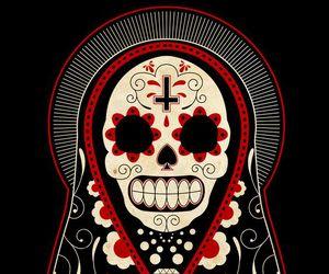 day of the dead, skull, and dia de los muertos image