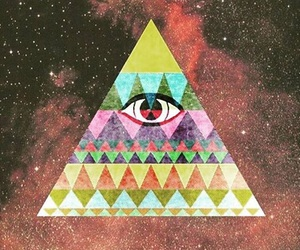 triangle, eye, and hipster image