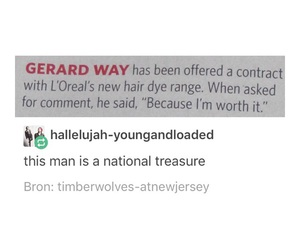 funny, gerard way, and humor image