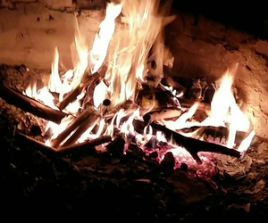 beuty, fire, and Hot image
