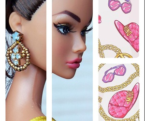 attitude, background, and barbie image