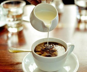 coffee, milk, and food image