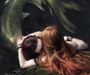 mermaid, fantasy, and sea image