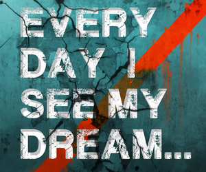 abstract, red, and text image
