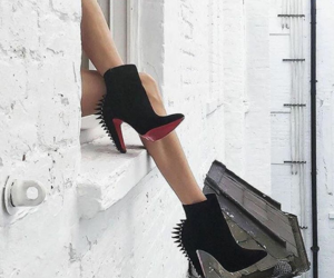 high heels, louboutins, and shoes image
