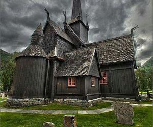 autumn, black, and church image