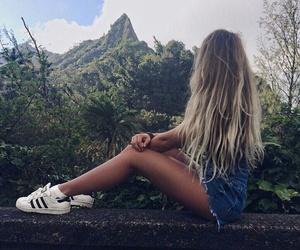 girl, hair, and moda image