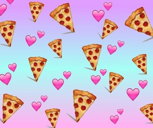 pizza, love, and wallpaper image