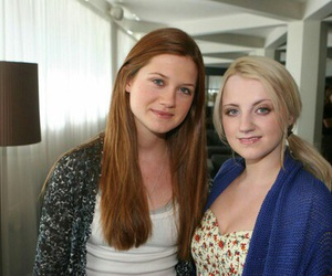 bonnie wright, evanna lynch, and harry potter image