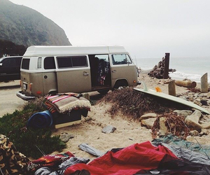 travel, beach, and van image