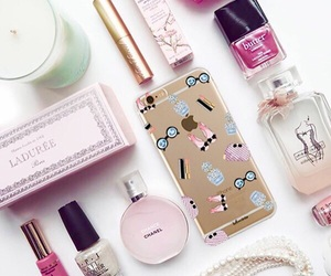 case, iphone, and makeup image
