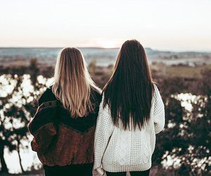 girl, best friends, and beautiful image