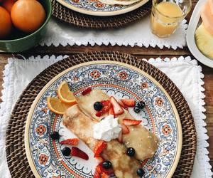 food, pancakes, and beautiful image