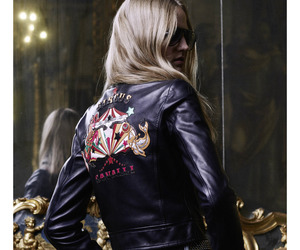 black, inspiration, and leather chic image