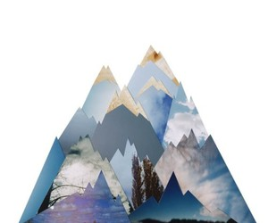 mountains, art, and Collage image