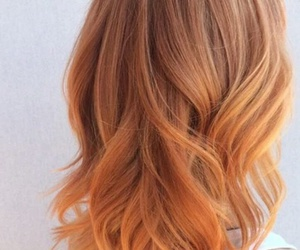 blonde, hair, and orange image