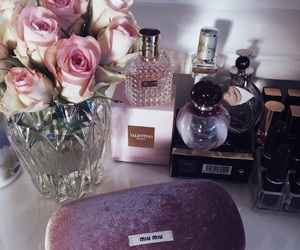 chanel, dressing table, and makeup image