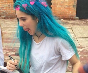 halsey, ashley frangipane, and blue hair image