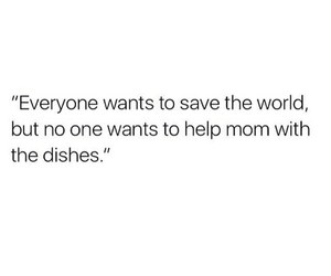 quotes, mom, and dishes image