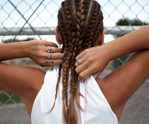 braids, girl, and chic image