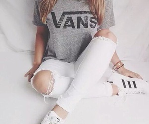 clothes, girls, and vans image