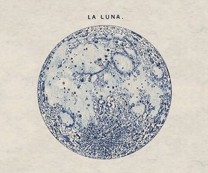 moon, luna, and art image