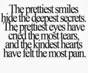 pain, quote, and smile image