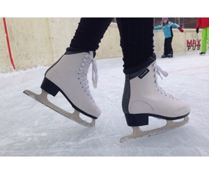 ice skating, quality, and winter image