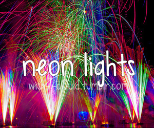 colorful, neon lights, and pretty image