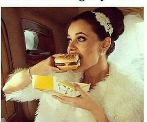 wedding, dress, and food image