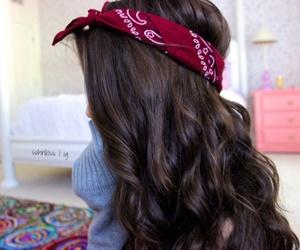 hair, bandana, and tumblr image