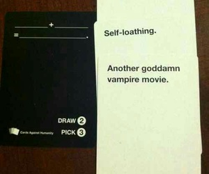 tumblr post, text post, and cards against humanity image