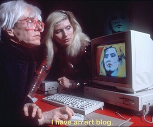 andy warhol, art, and debbie harry image